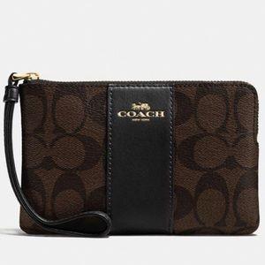Coach Authentic Zip Wristlet Wallet